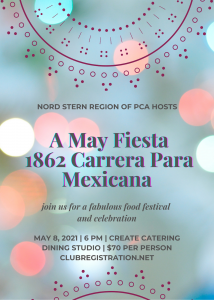 POSTPONED! DATE TBA - 1862 La Carrera para Mexicana - A May FIESTA @ Create Catering and Dining Studio