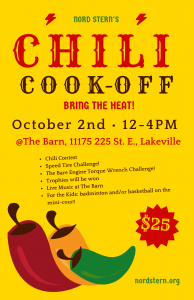 """The Great Nord Stern Chili Cook Off @ """"The Barn"""""""