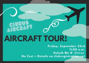 Cirrus Aircraft Tour - Postponed to 2022! @ Cirrus Aircraft