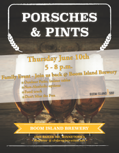 Porsches and Pints @ Boom Island Brewing