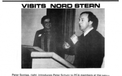 Nord Stern History Post 27  Peter Schutz 1981 Visit
